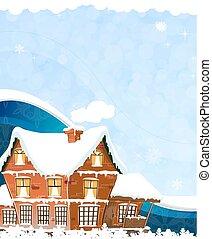 casa azul, fundo