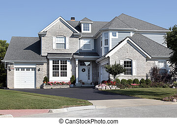 casa azul, ladrillo, apartadero