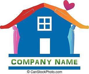 casa azul, resumen, logotipo