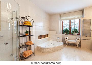 casa, banheiro, classy, -, clássicas