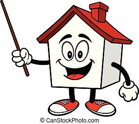 casa, bastone indicatore