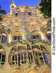 Casa Batllo at dusk, Barcelona