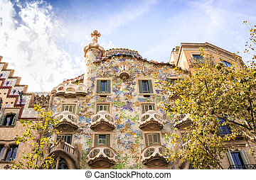 Casa Batllo by Antoni Gaudi in Barcelona, Spain - Casa ...
