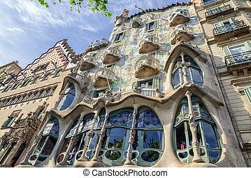 Casa Batllo in Barcelona, Spain - BARCELONA, SPAIN - APRIL...