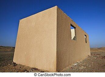 casa, beduíno, deserto