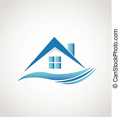 casa, bens imóveis, logotipo