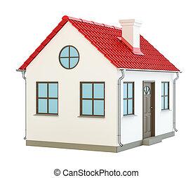 casa, bianco, modello, fondo