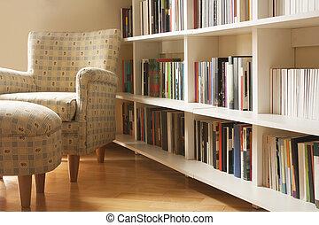 casa, biblioteca