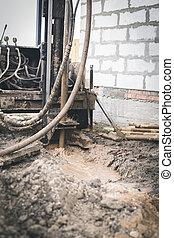 casa, bien, máquina, construcción, perforación, nuevo,...