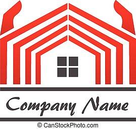 casa, bienes raíces, logotipo