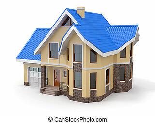 casa, blanco, plano de fondo