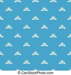 casa blu, seamless, vettore, pulizia, modello