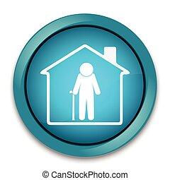 casa, bottone, allattamento