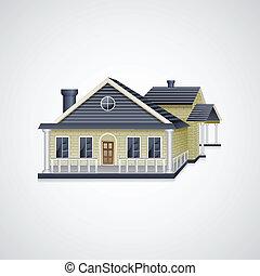 casa, bungalow