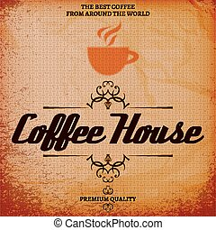casa, caffè, fondo, struttura