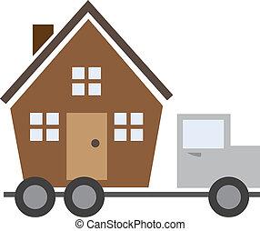 casa, camión