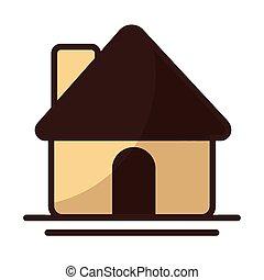 casa, carino, bianco, costruzione, fondo