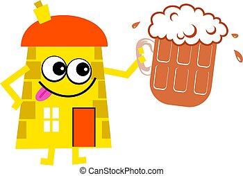 casa, cerveja
