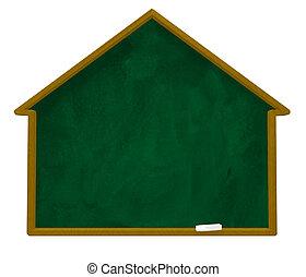 casa, chalkboard