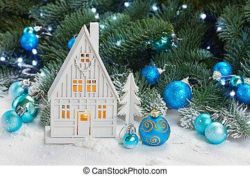 casa, christmas branco