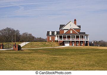 casa, colina, execuative