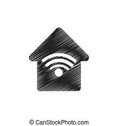 casa, collegamento, wifi, web