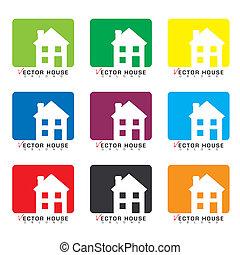 casa, collezione, icona
