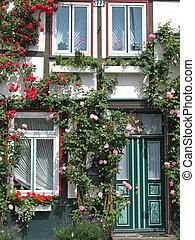 casa, com, rambler, rosa