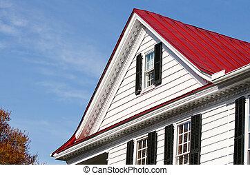 Finestra rosso tetto abbaino immagine d 39 archivio for Abbaino tetto prezzi