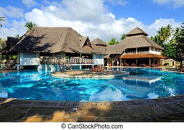 casa, con, piscina
