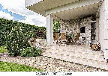 casa, con, terrazzo