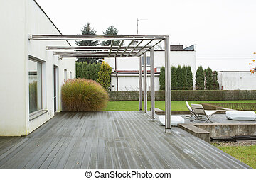 casa, con, veranda