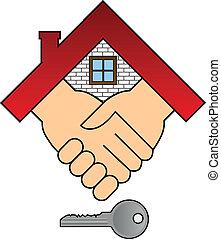 casa, concepto, -, compra