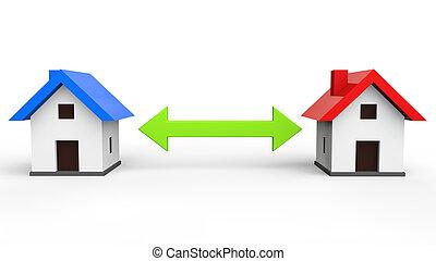 Case 3d vendita affitto render vendita case affitto for Aprire piani casa concetto