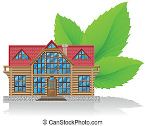 casa, concetto, ambientale