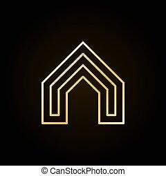 casa, concetto, colorito, icona