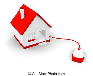 casa, concetto, comunicazione