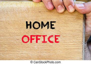 casa, concetto, ufficio, testo