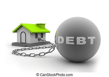 casa, concetto, vendita