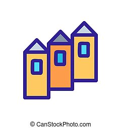casa, contorno, vector., ilustración, símbolo, aislado, ...