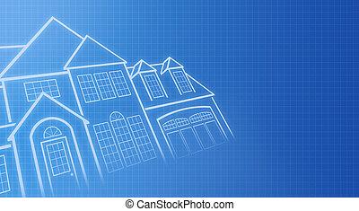 casa, copias azules