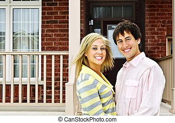 casa, coppia, felice