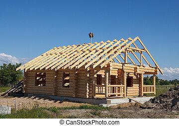 casa, costruito, registrare