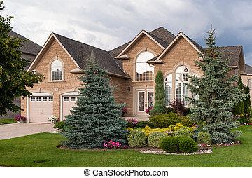 casa, costume, luxo, construído