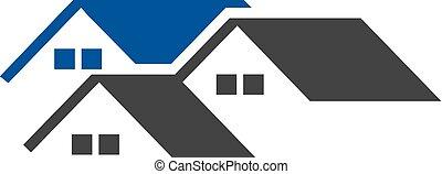 casa, creativo, techado