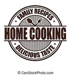 casa cucinando, francobollo