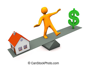 casa, dólar, balance