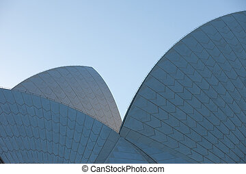 casa de ópera, detalle, sydney, vista