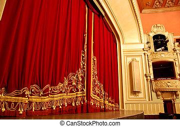 casa de ópera, interior, -, etapa