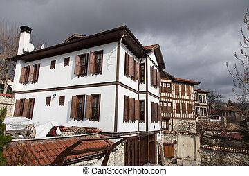casa de la ciudad, safranbolu, tradicional, turco